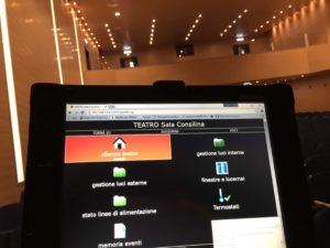 gestione da remoto teatro: gestione domotica del teatro