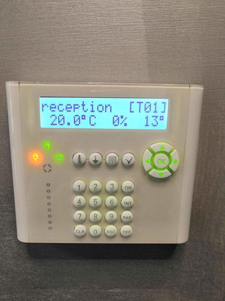 tastiera di gestione per domotica
